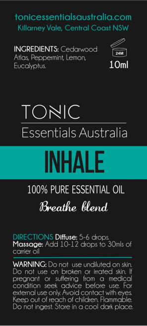 Inhale Breathe Blend 100% Pure Essential Oils 10ml