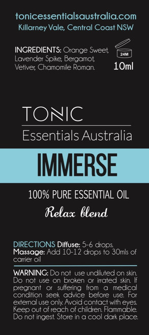 Immerse Relaxing Blend 100% Pure Essential Oils 10ml