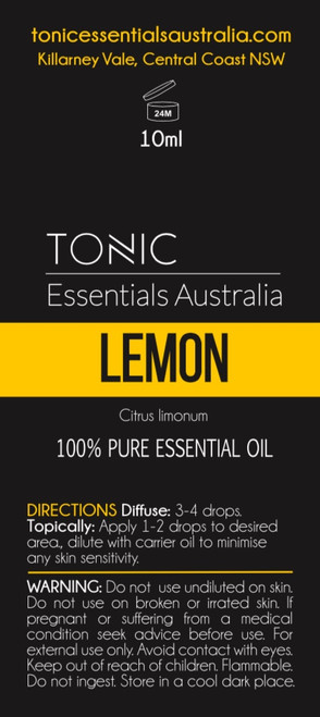 Lemon 100% Pure Essential Oil 10ml