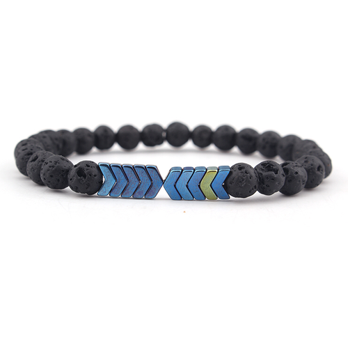 Blue Arrow & Lava Diffuser Bracelet