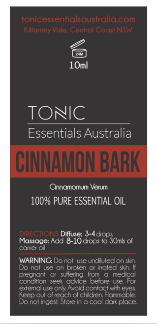 Cinnamon Bark 100% Pure Essential Oil 10ml