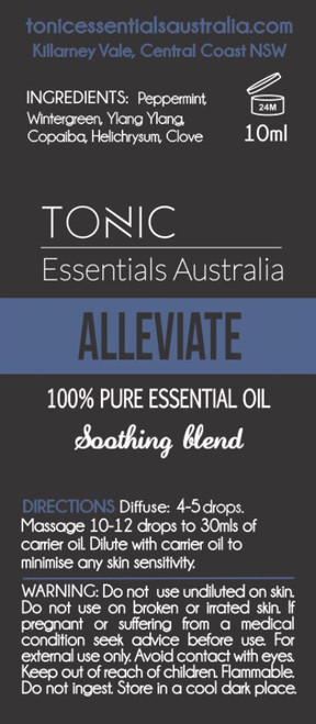 Alleviate Soothing Blend 100% Pure Essential Oils 10ml