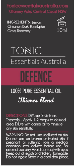 Defence Thieves Blend 100% Pure Essential Oils 10ml