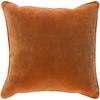 Safflower 18x18 Velvet Decorative Pillow