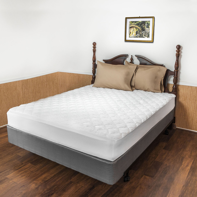 Quilted Mattress Pad.  USA made for Queen, Full, King, Olympic Queen and more.
