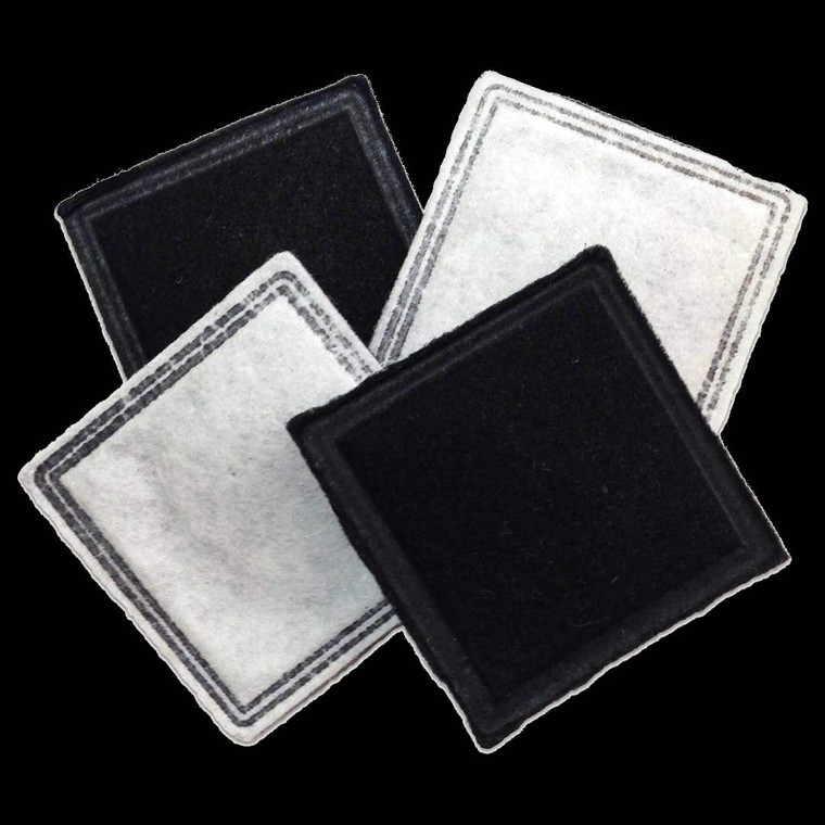 PetSafe Replacement Filter for Current Pet Fountain 4 Pack Black