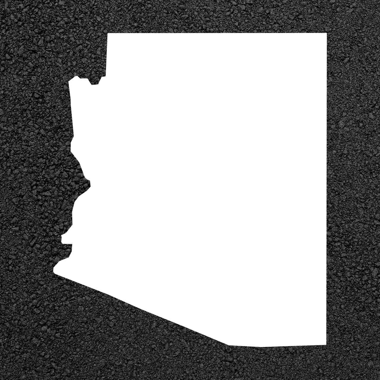 A Map Of Arizona State.Arizona State Map Stencil