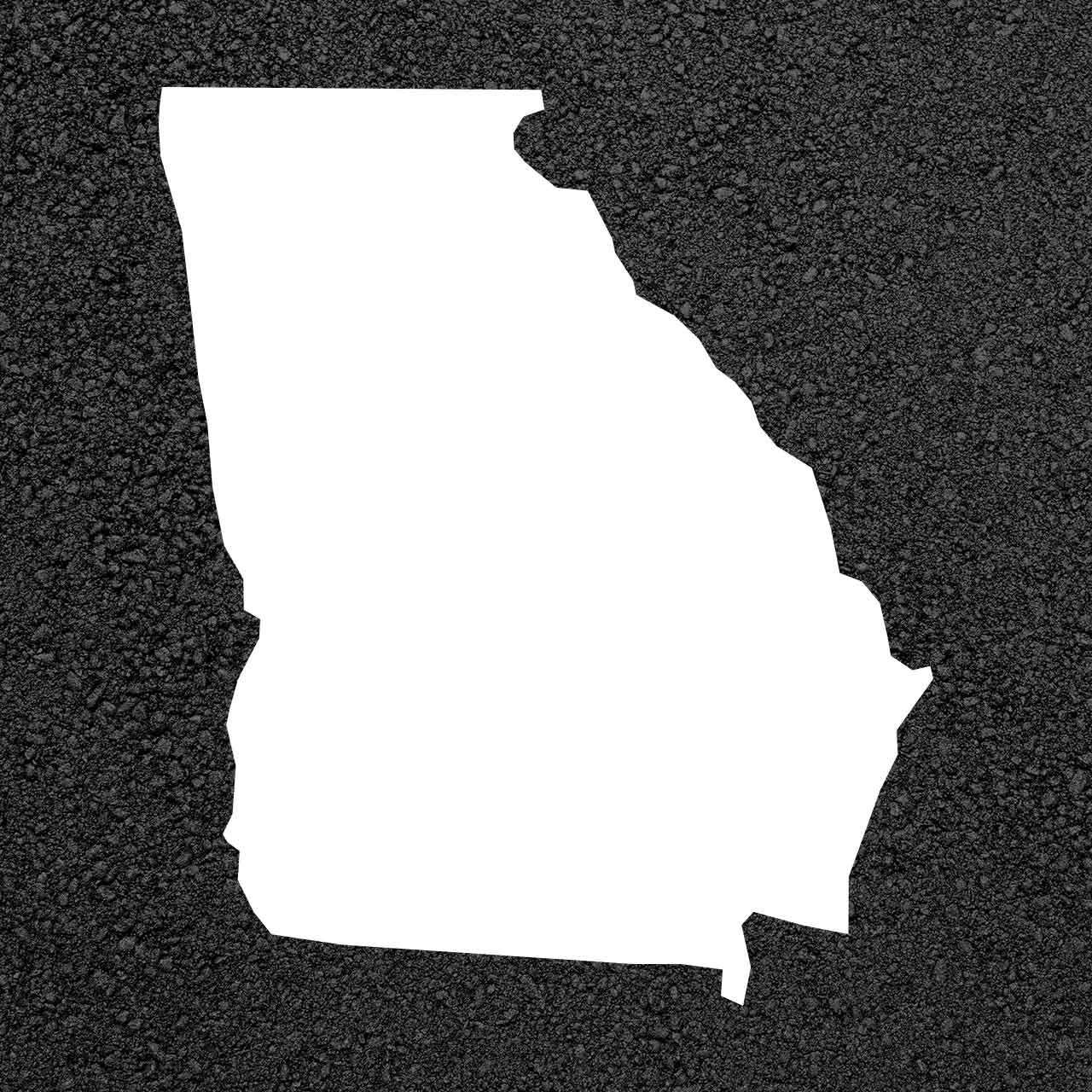 Georgia State Map Stencil | Stop-Painting.com