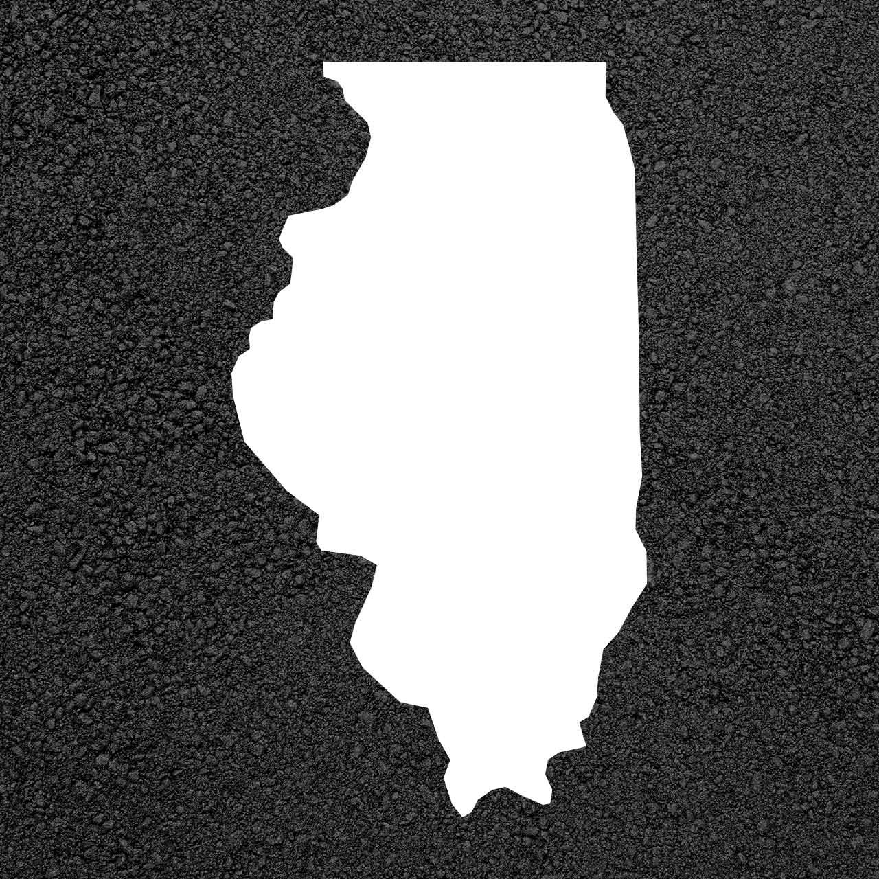 Illinois State Map Stencil | Stop-Painting.com