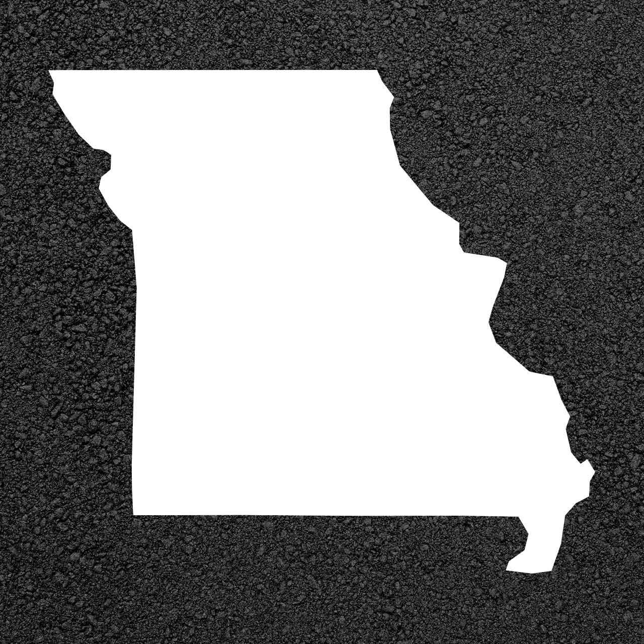 Missouri State Map Stencil