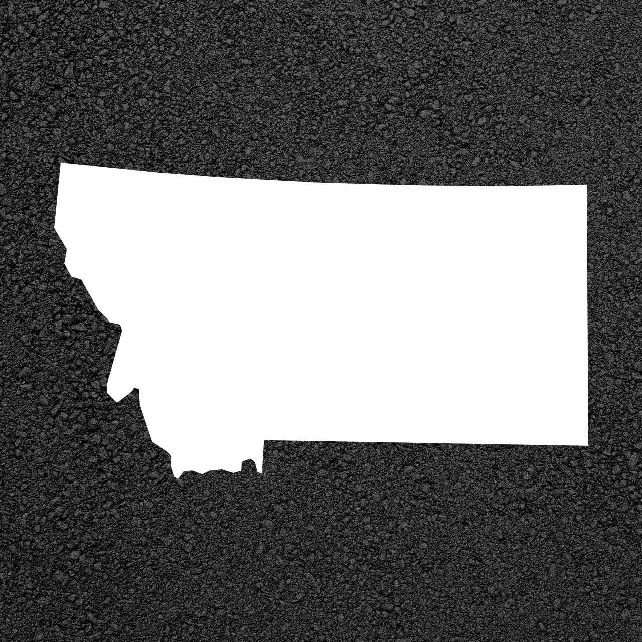 Montana State Map Stencil