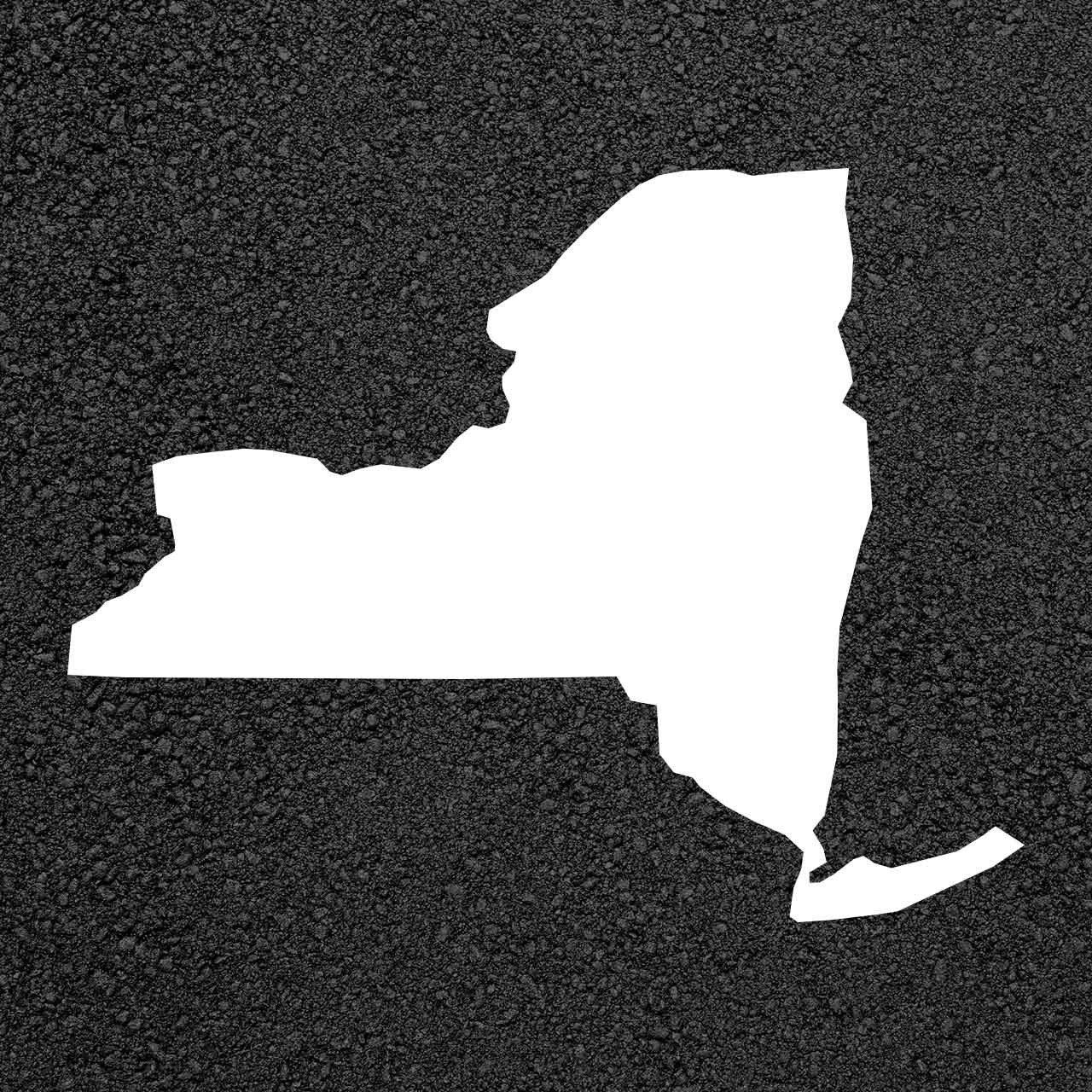 New York State Map Stencil
