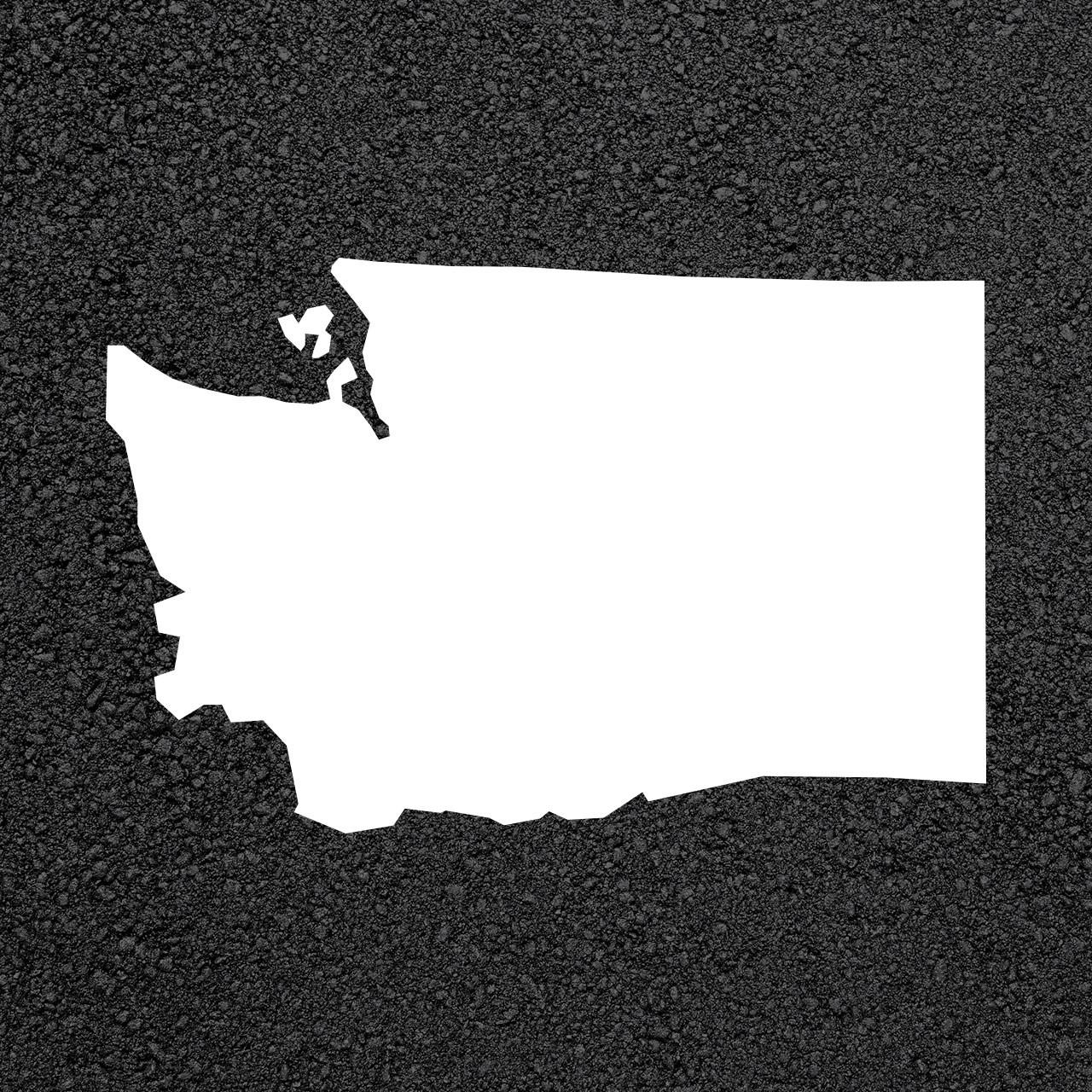 Washington State Map Stencil