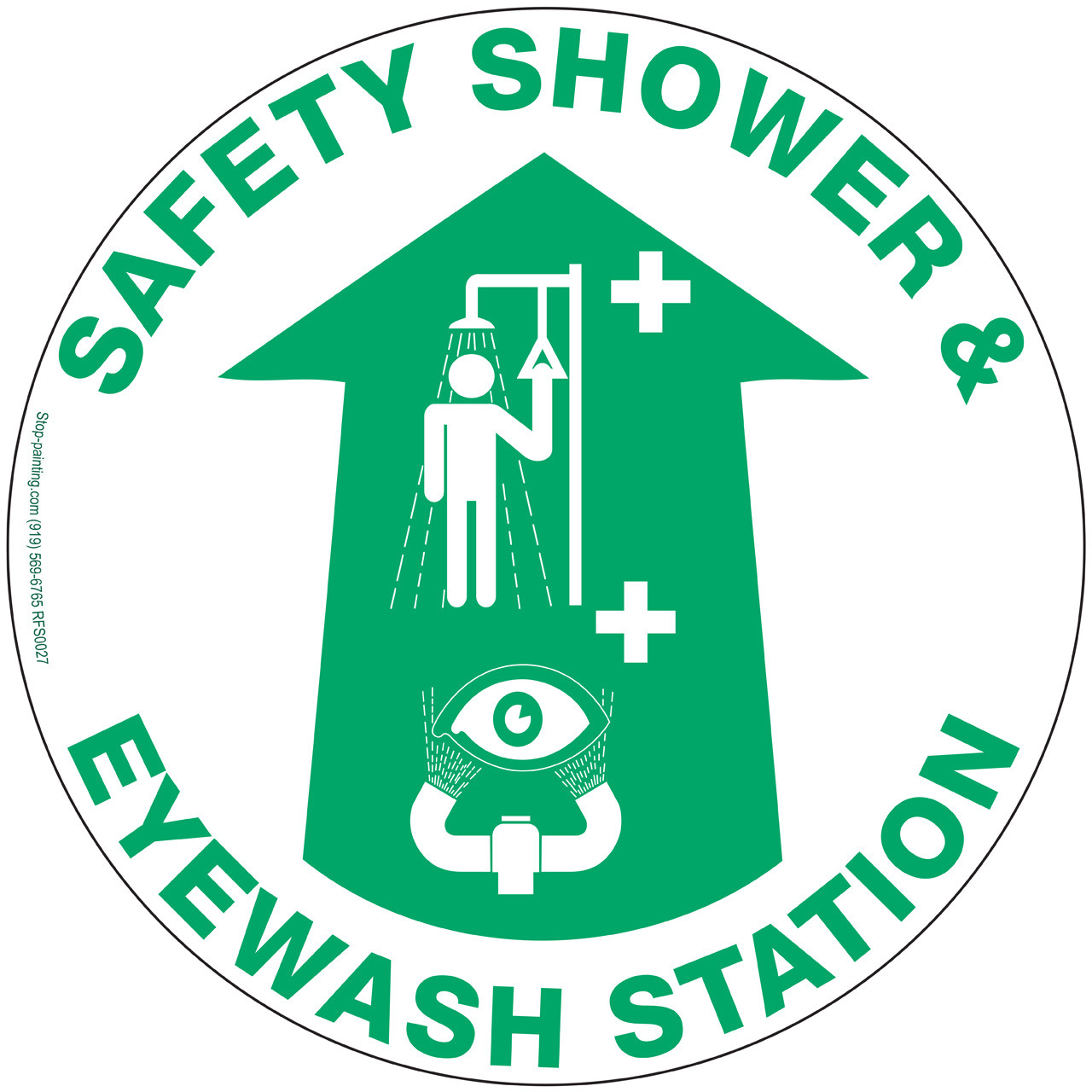 Safety Shower And Eyewash Station Floor Sign Stop Painting Com
