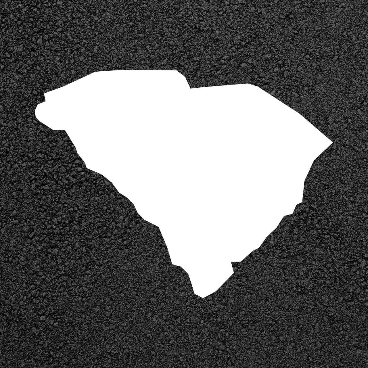 South Carolina State Map Stencil | Stop-Painting.com