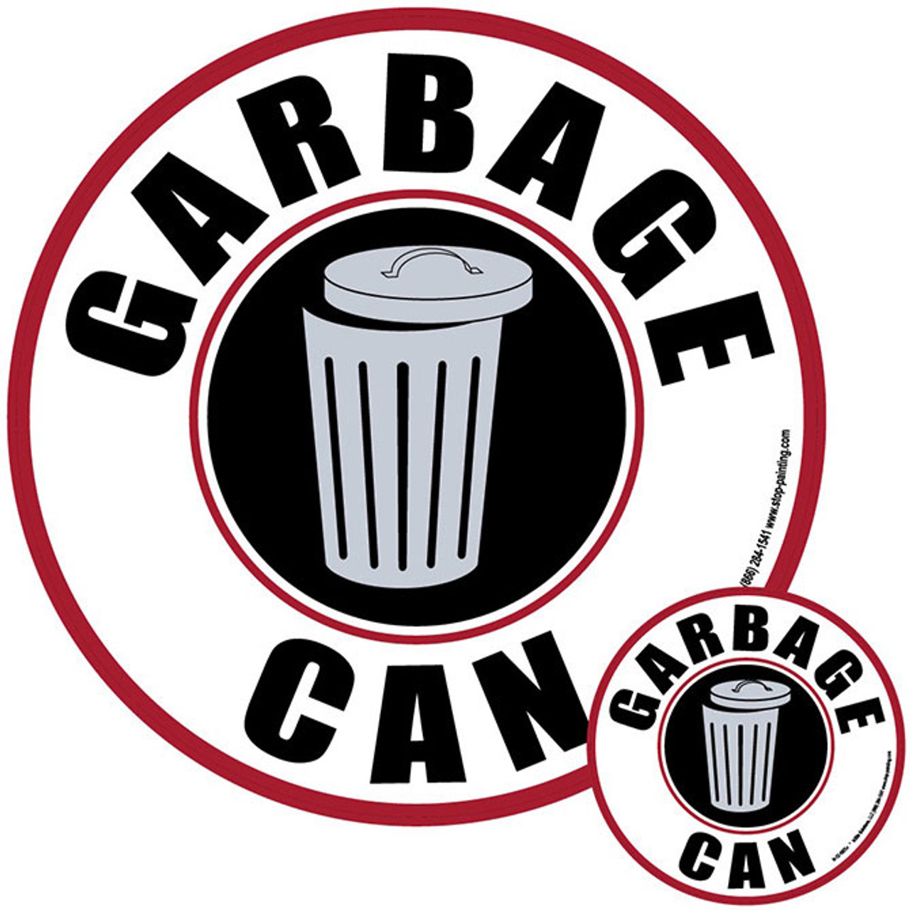 Garbage Can Floor Sign 5s Identification Systems