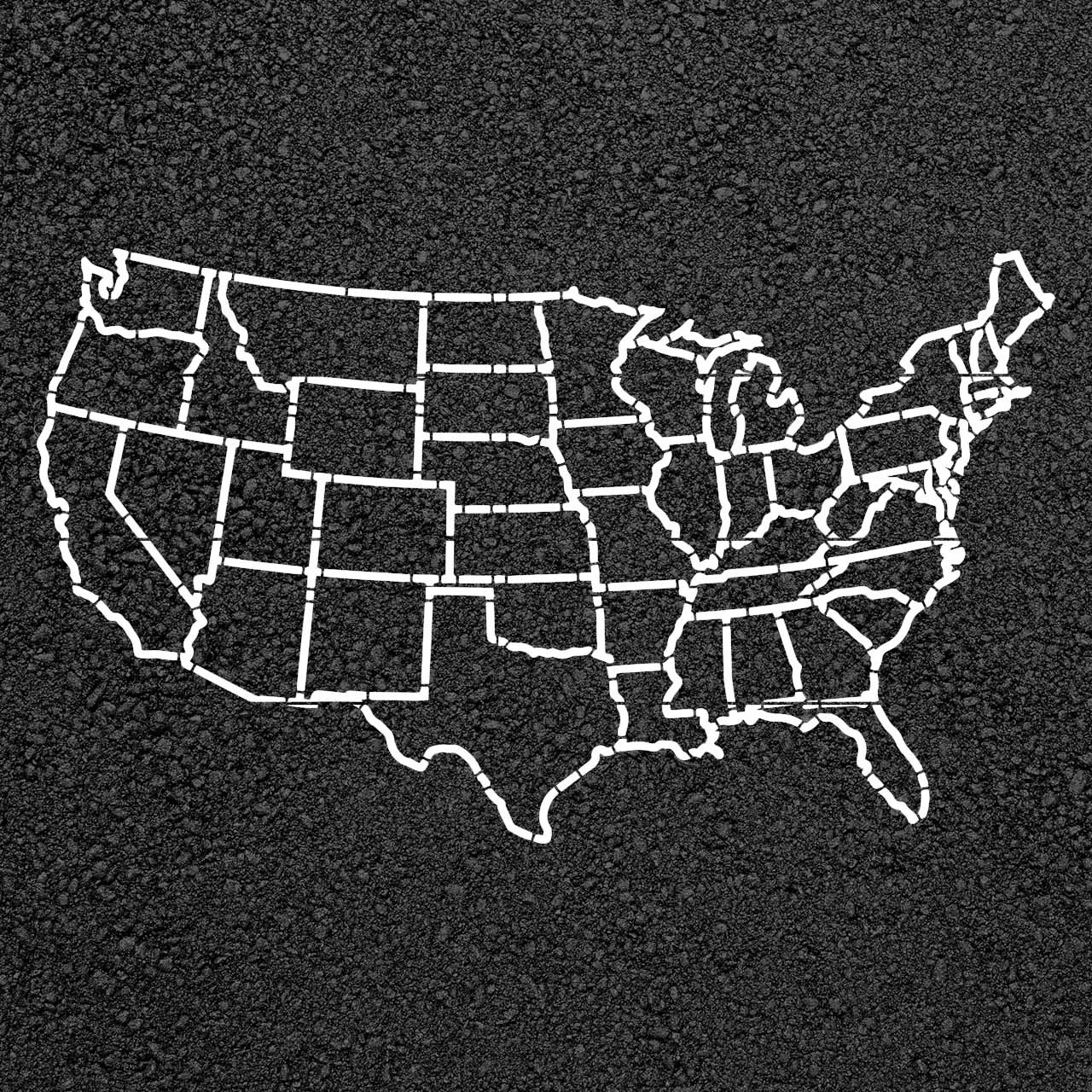 united states map stencil United States Map Stencil Stop Painting Com