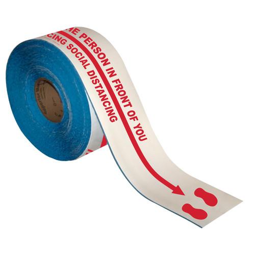 CO-VID Social Distancing Blue Self Adhesive Floor Lane Marking Tape 25mm x 33m