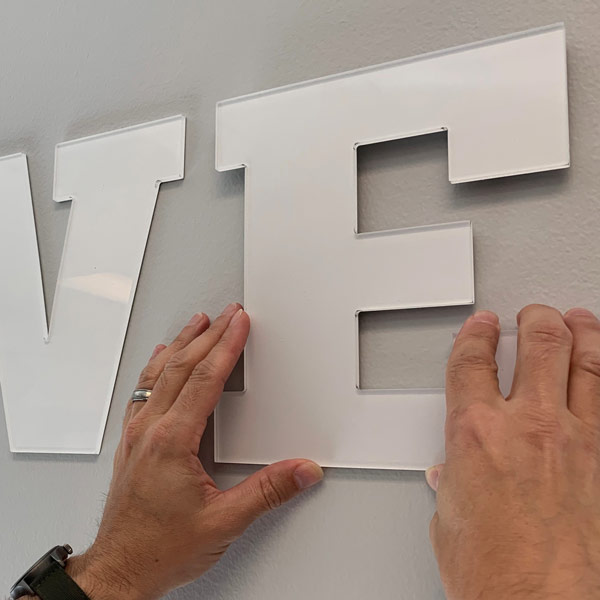 Custom Materials - Acrylic Lettering