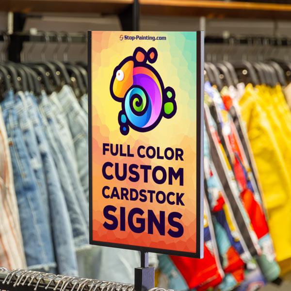 Custom Materials - Cardstock