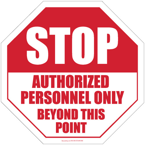 image regarding Authorized Personnel Only Sign Printable named Reduce-Authorised Workers Merely Over and above This Stage Surface area Indicator 18\