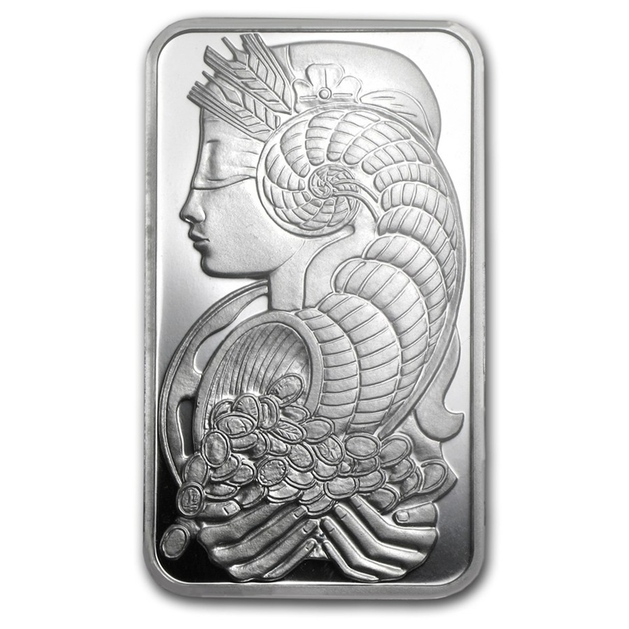 1 gram .999 Fine Silver PAMP Suisse Platinum Bar Fortuna Style in Sealed Assay