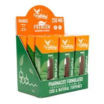 Free The Leaf - CBD Vape Cartridges By Green Roads 1ML Display of 9 Mango