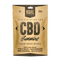 CBD Gummies By Kore Organic CBD 7ct Pouch *Drop Ship* (MSRP $9.99)