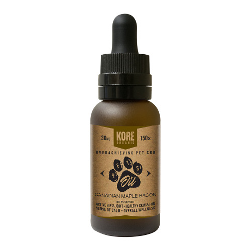 Kore Organic CBD - Pet Oil -  Canadian Maple Bacon Tincture 30ml Bottle - 150mg *Drop Ship* (MSRP $19.99)
