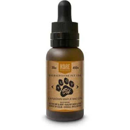 Kore Organic CBD - Pet Oil - Canadian Maple Bacon Tincture 30ml Bottle -  450mg *Drop Ship*(MSRP $39.99)