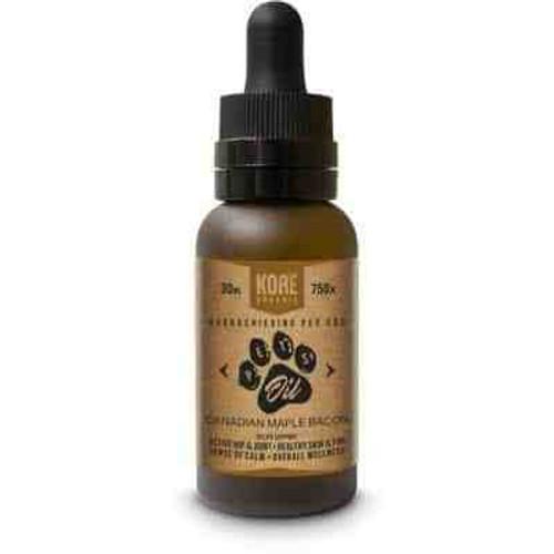 Kore Organic CBD - Pet Oil - Canadian Maple Bacon Tincture 30ml Bottle - 750mg *Drop Ship*(MSRP $69.99)