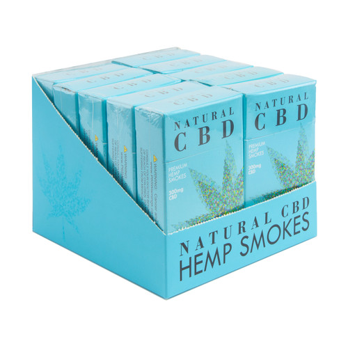 Natural CBD - Premium CBD Cigarettes - 10 Pack Display (MSRP $9.99)