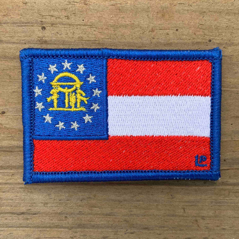 Georgia State Flag 2x3 Loyalty Patch