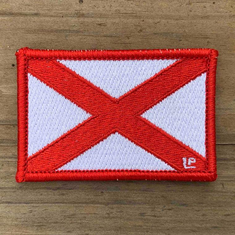 Alabama State Flag 2x3 Loyalty Patch
