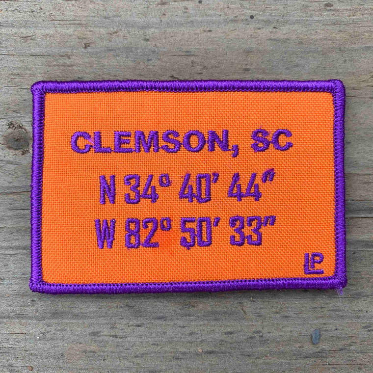 Clemson Stadium Coordinates 2x3 Loyalty Patch