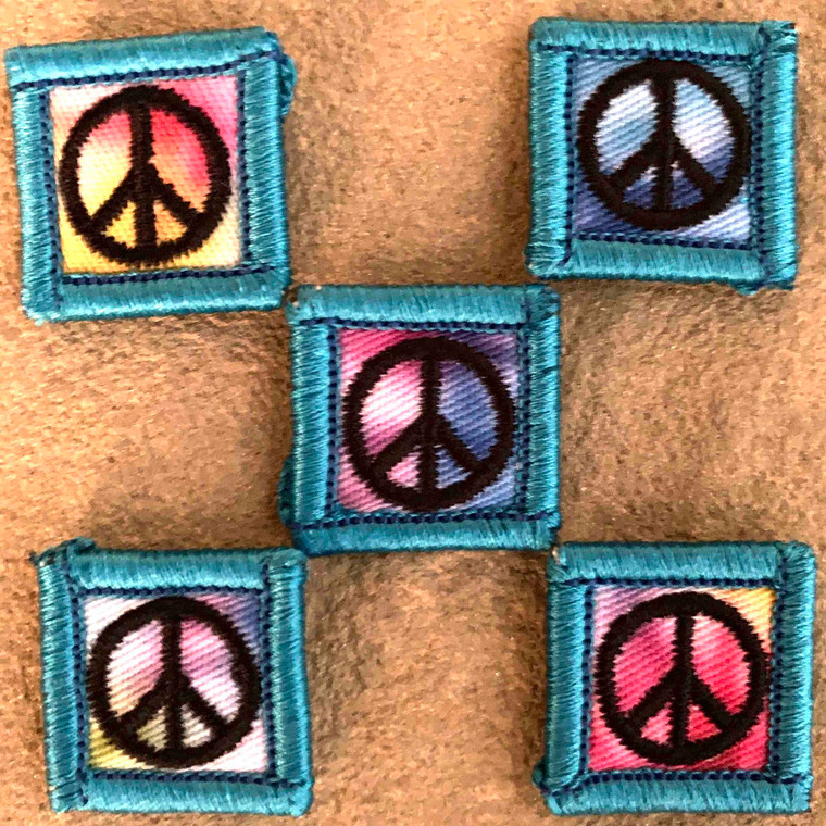 Peace Sign Tie Dye 1x1 Loyalty Badge