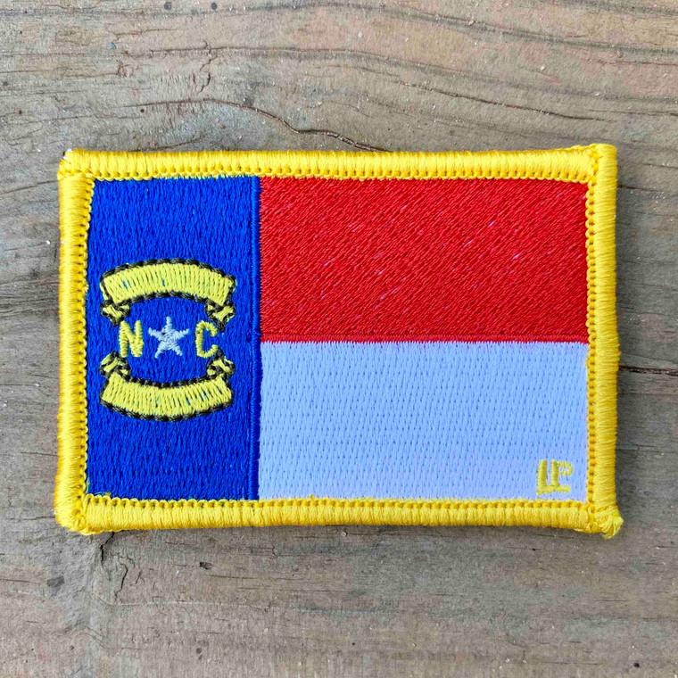 North Carolina State Flag 2x3 Loyalty Patch