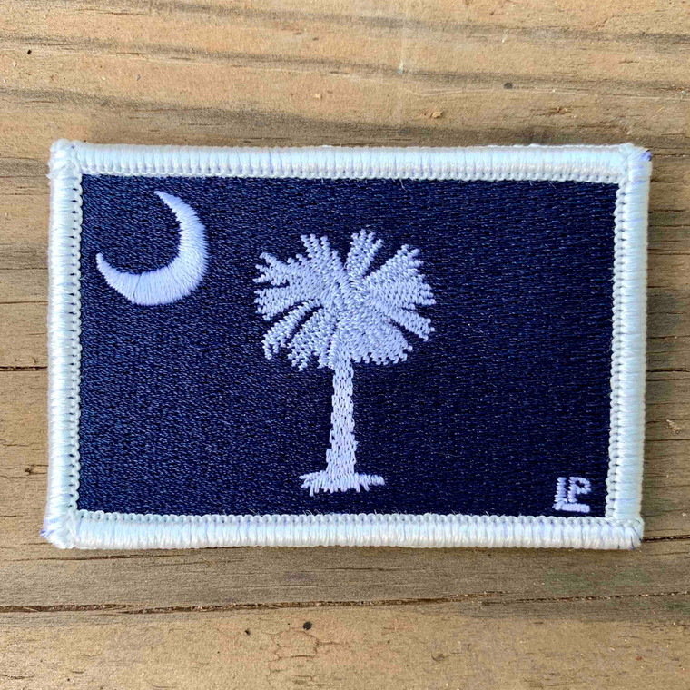 South Carolina State Flag 2x3 Loyalty Patch