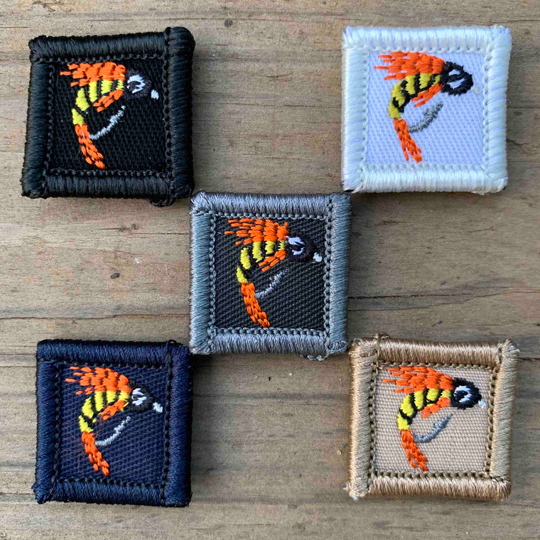 Fishing Lure Orange 1x1 Loyalty Badge