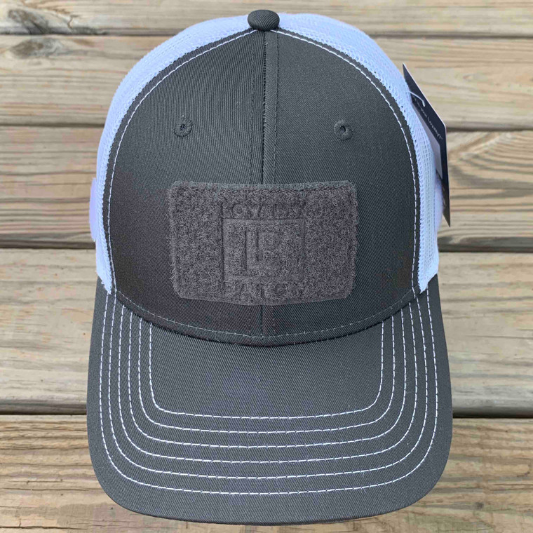 Ball Cap - Charcoal Gray with White Mesh