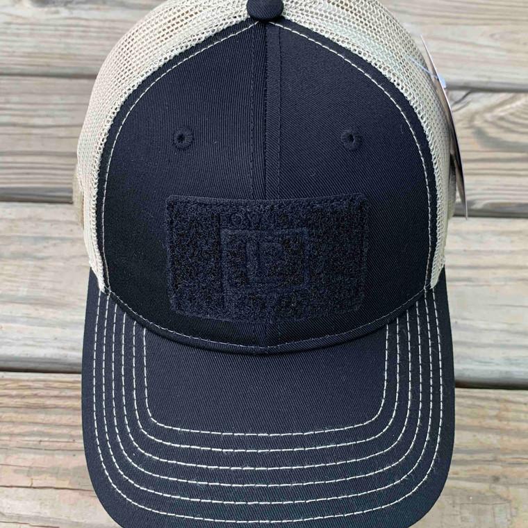 Ball Cap - Black with Tan Mesh
