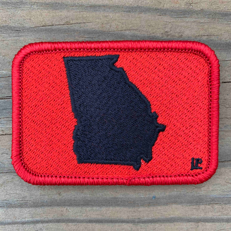 Georgia Silhouette - Red and Black 2x3 Loyalty Patch