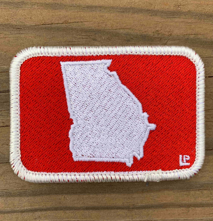 Georgia Silhouette - Red and White 2x3 Loyalty Patch
