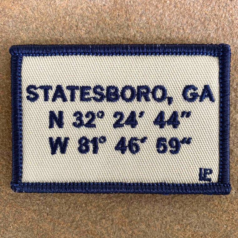 Statesboro Stadium Coordinates 2x3 Loyalty Patch
