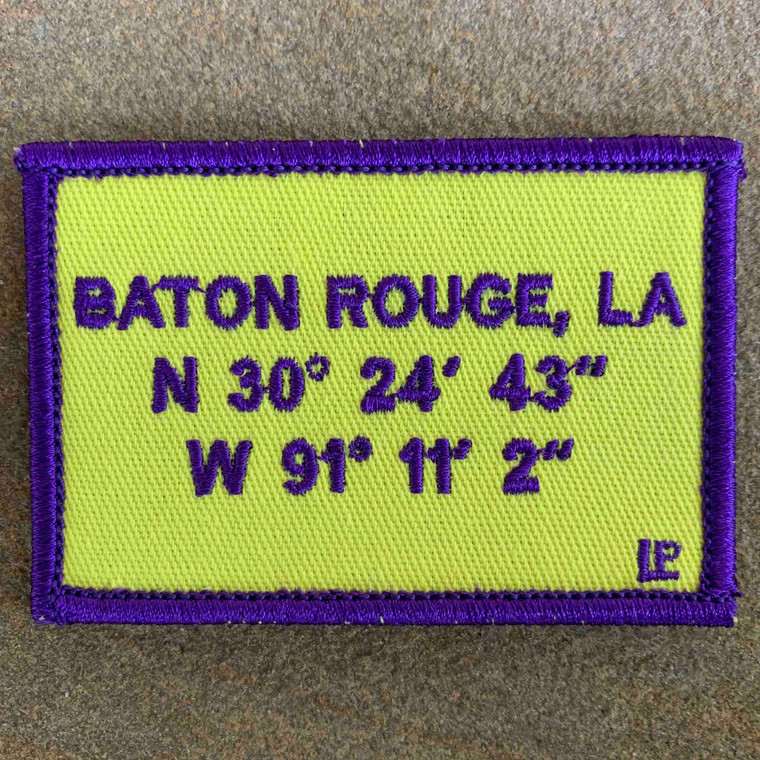Baton Rouge Stadium Coordinates 2x3 Loyalty Patch