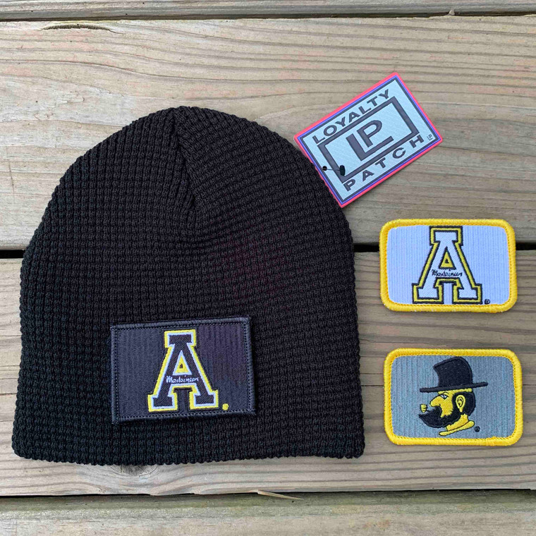 Appalachian State Gift Set  - Black Beanie with Three Patches
