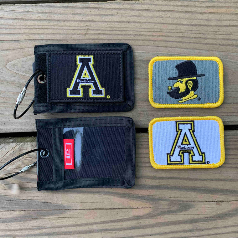 Appalachian State Gift Set - Black Bag Tag with Three Patches