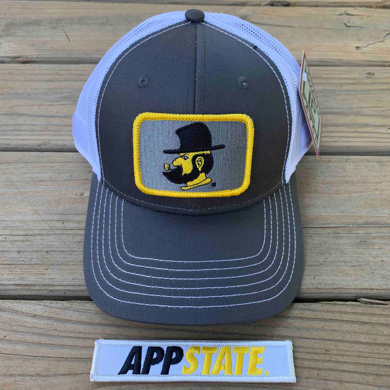 Appalachian State Gift Set - Charcoal Ball Cap with Two Patches - Yosef