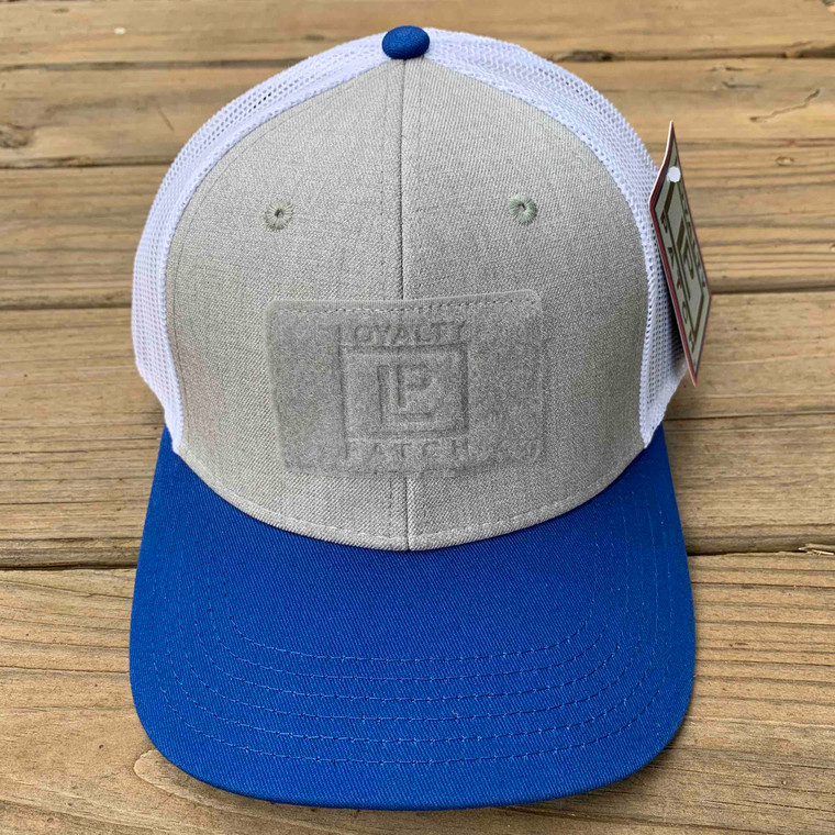 Ball Cap - Royal Blue and Heather with White Mesh - Front