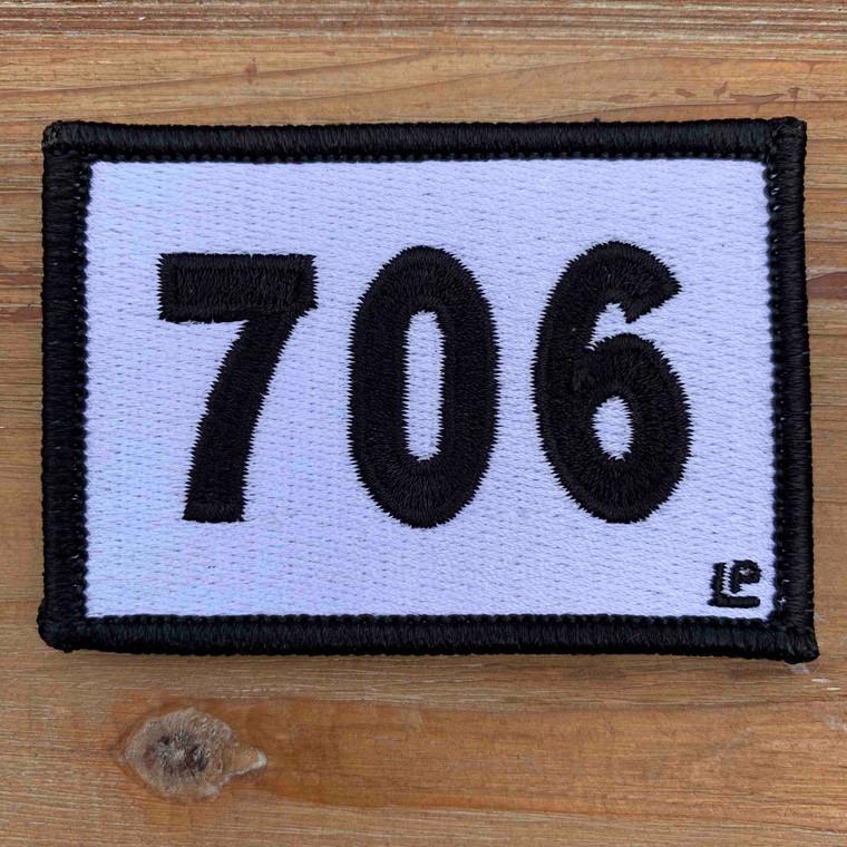 706 Georgia Area Code 2x3 Loyalty Patch
